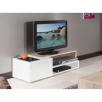 meuble tv petite largeur achat meuble tv petite largeur pas cher rue du commerce. Black Bedroom Furniture Sets. Home Design Ideas