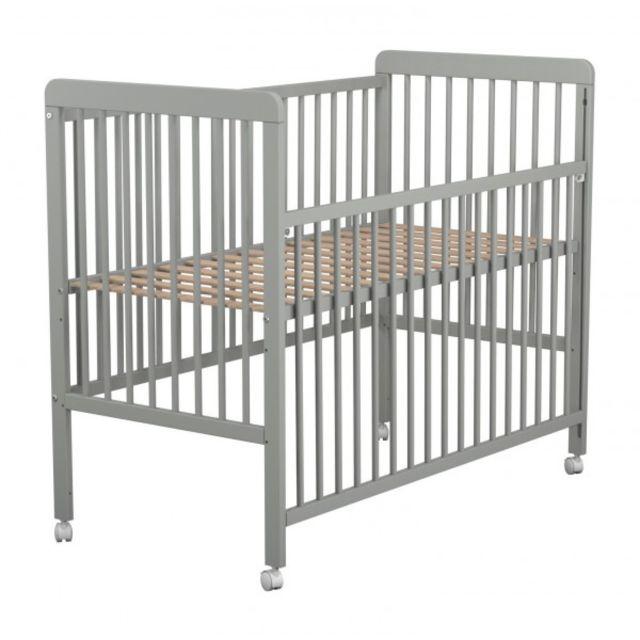TERRE DE NUIT - Lit bébé sur roulettes gris 60x120 60cm x 120cm ...