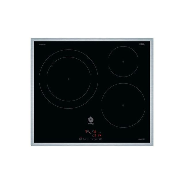 Balay Plaque à Induction 3EB865XR 60 cm Noir 3 zones de cuisson