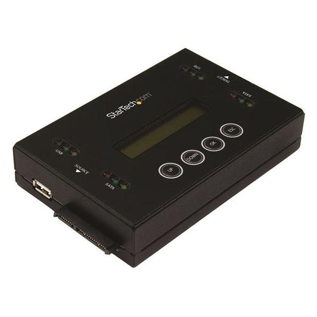 """StarTech.com Accessoire Disque Dur Externe - HDD Adaptateur et Dock pour Disque Dur Externe Dupliquez ou effacez des SSD/HDD SATA 2,5/3,5"""" et un stockage fixe USBDuplication 1:1 et prise en charge d'interface croisée : SATA vers USB ou USB vers SATA"""