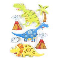Sans Marque - Sticker 3D Rêve - 30 x 40 cm - Dinosaure