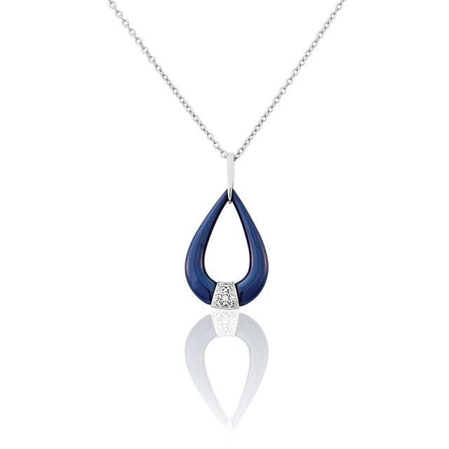 cd94dbc38e6e2 Bleue Joaillerie - Collier Argent 925 1000 Céramique - pas cher Achat   Vente  Chaînes, colliers - RueDuCommerce