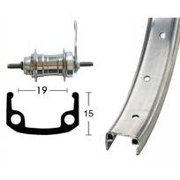 Bike-Parts - Roue arrière 20 x 1.75 36 trous rétropédalage