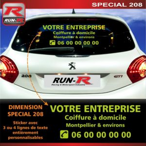 Run r stickers sticker publicitaire personnalise pour for Stickers exterieur personnalise