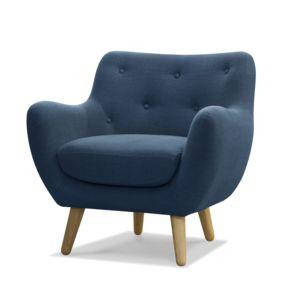 alin a poppy meuble fauteuil esprit scandinave bleu p trole pas cher achat vente fauteuils. Black Bedroom Furniture Sets. Home Design Ideas