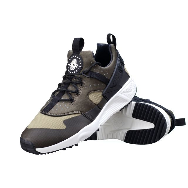 best service e59da 306d8 Nike - Basket Air Huarache Utility 806807 - 201 Kaki - pas cher Achat   Vente  Baskets homme - RueDuCommerce