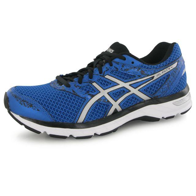 Asics Gel Excite 4 bleu, chaussures de running homme pas