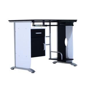 HOMCOM Bureau informatique design en mdf 100 l x 52 i x 45h cm