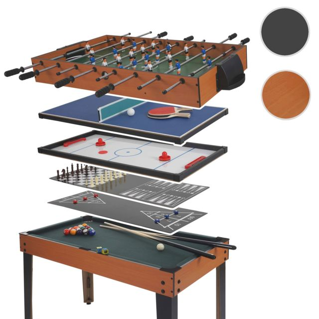 7824e52383cf4d Mendler Table de baby-foot Wakefield, billard, hockey, 7 en 1,
