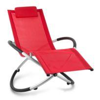 Blumfeldt - Chilly Billy Chaise longue jardin transat aluminium -rouge