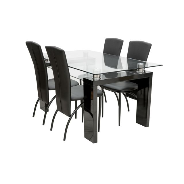 TOPDECO Table + 4 chaises