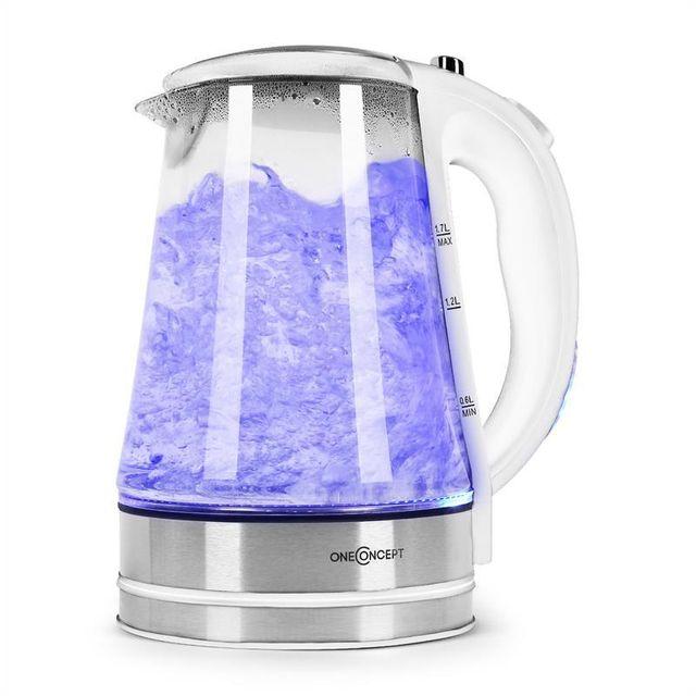 ONECONCEPT Blue Lagoon Bouilloire électrique LED 1,7L -blanc