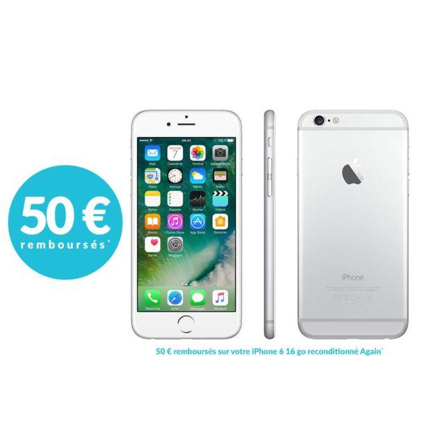 destockage apple iphone 6 16 go argent reconditionn pas cher achat vente smartphone. Black Bedroom Furniture Sets. Home Design Ideas