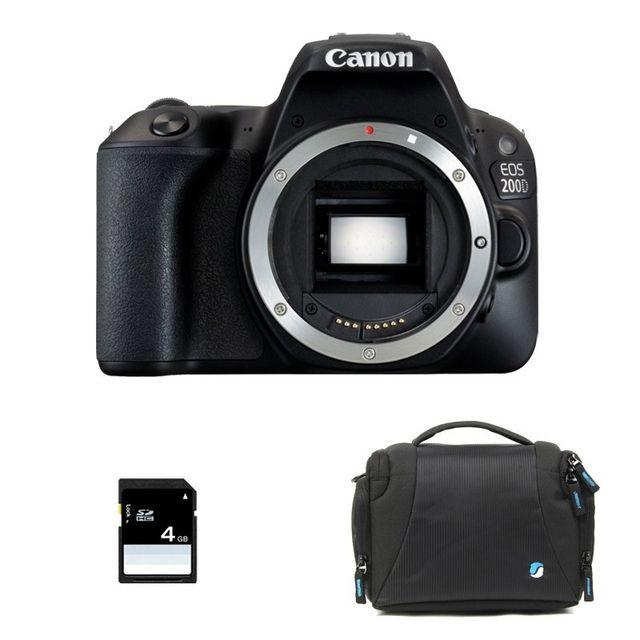 Canon Eos 200D nu Garanti 3 ans + Sac + Carte Sd 4Go