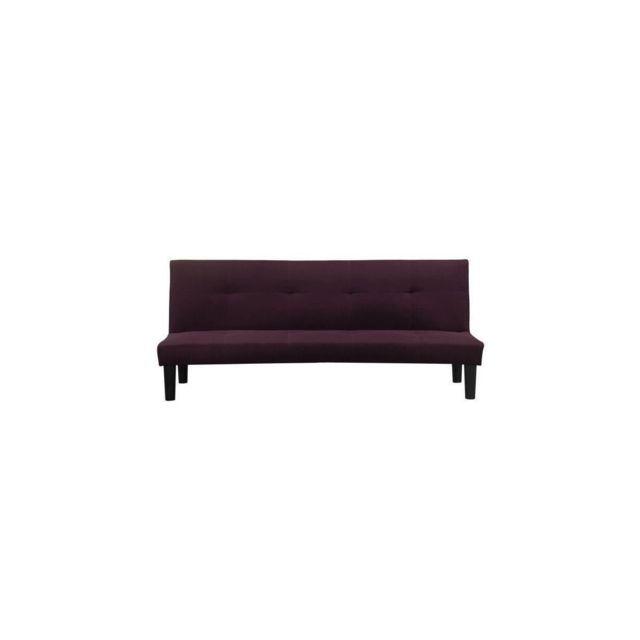 Sans Marque Jimmy Banquette Clic Clac 2 Places - 180x74,5x85 Cm - Tissu - Violet