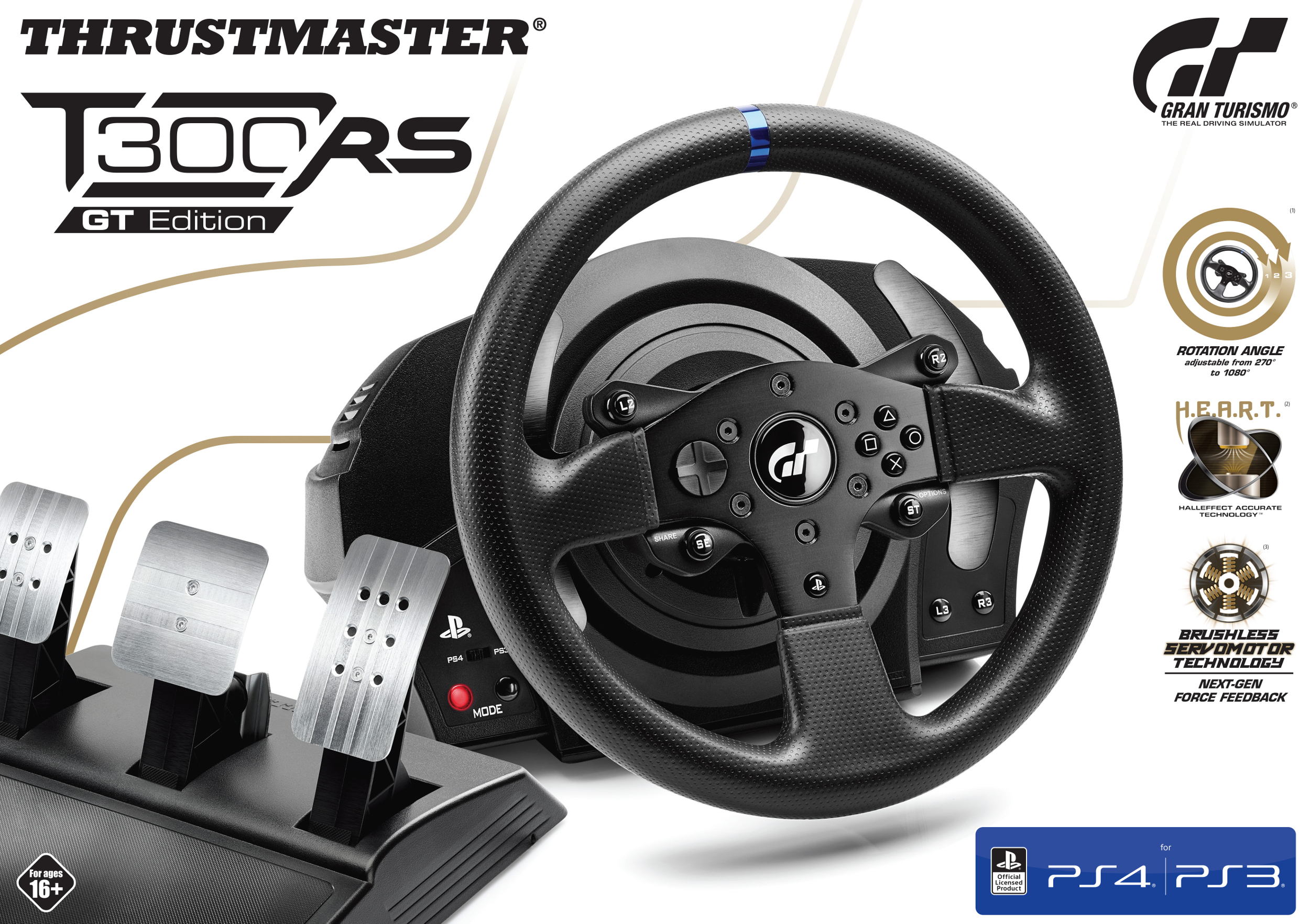thrustmaster volant t300rs gt pas cher achat vente. Black Bedroom Furniture Sets. Home Design Ideas