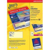 Avery Dennsion Zweckform - Avery Zweckform L7250-300 tiquettes d'adresse pour documents marketing 85 x 40 mm Jaune Import Allemagne