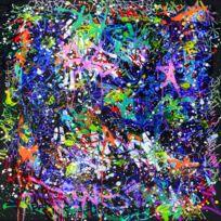 Artis - Toile imprimée JonOne Out Burst 90 x 90 cm