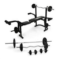 KLARFIT - Fitness Banc de musculation avec set d'haltères