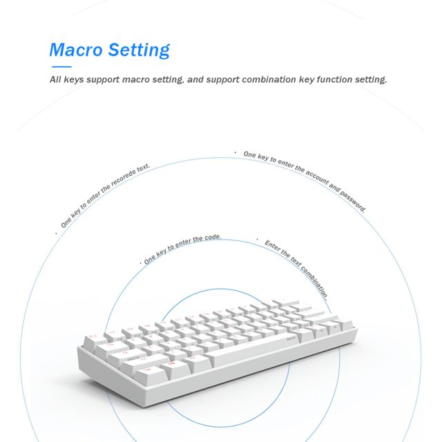 MECO Clavier mécanique anne pro 2 kailh box switch 60