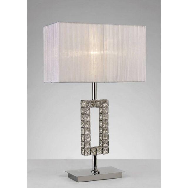 Lampe de Table Florence rond avec Abat jour crème 1 Ampoule