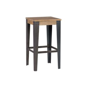 miliboo tabouret design industriel m tal et bois 65cm madison noir pas cher achat vente. Black Bedroom Furniture Sets. Home Design Ideas