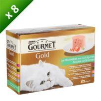 Gourmet - Gold mousse de légumes - 12 x 85g x8 Pour chat