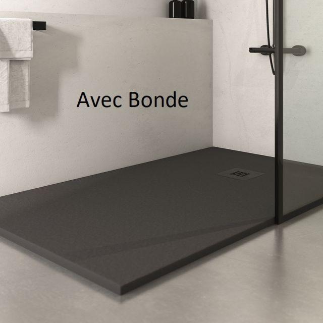 rue du bain receveur de douche extra plat rectangulaire. Black Bedroom Furniture Sets. Home Design Ideas