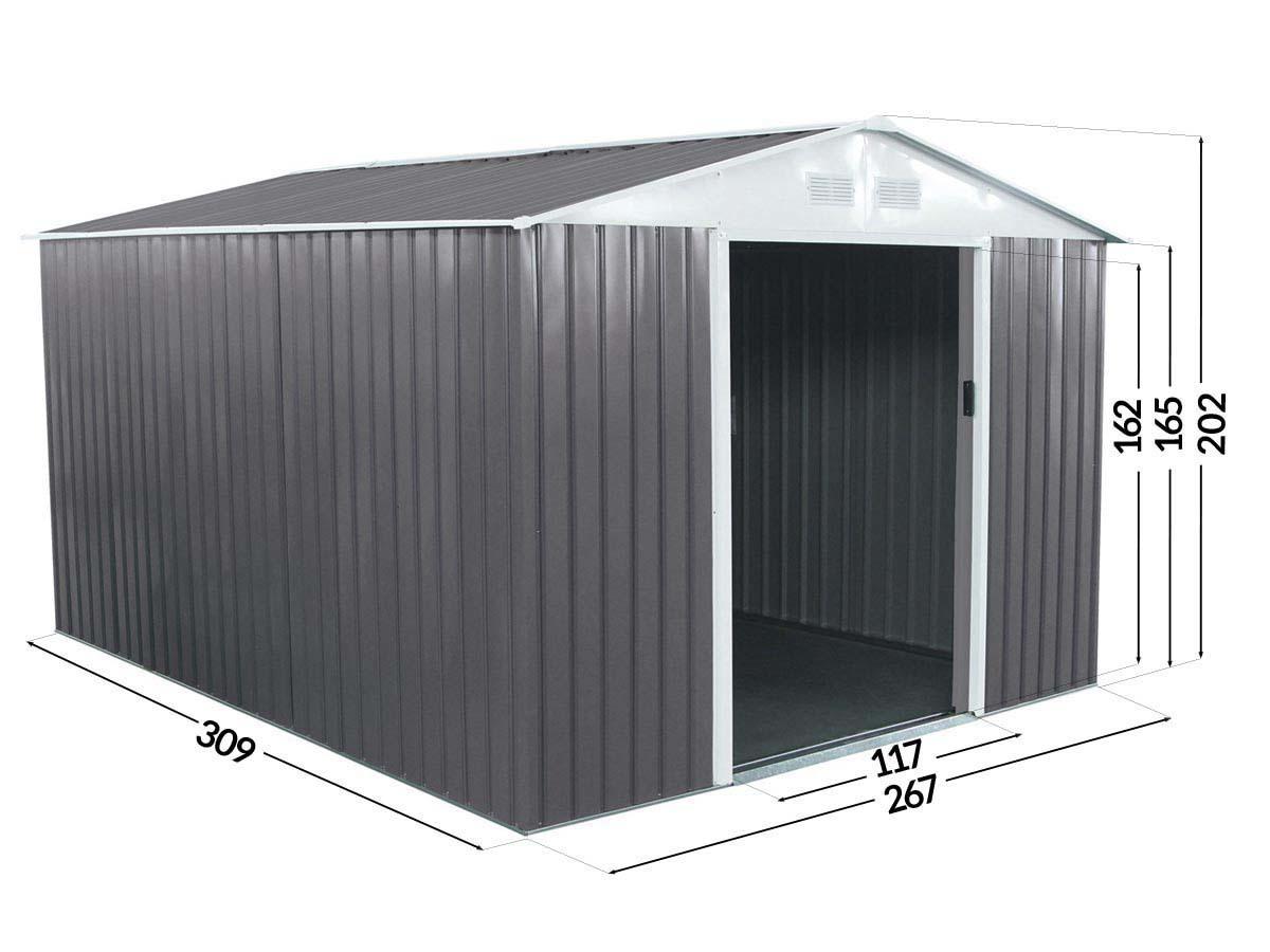 Abri jardin métal Dallas - 8,84 m²