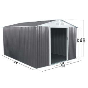 habitat et jardin abri jardin m tal dallas 8 84 m 2m. Black Bedroom Furniture Sets. Home Design Ideas