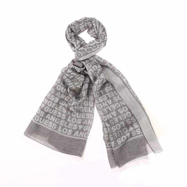 edd434af1cc Guess - Chèche en modal et viscose gris monogrammé - pas cher Achat   Vente  Echarpes