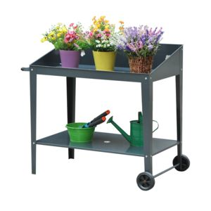 Outsunny table de rempotage jardinage double niveau 2 for Table exterieur jardiland