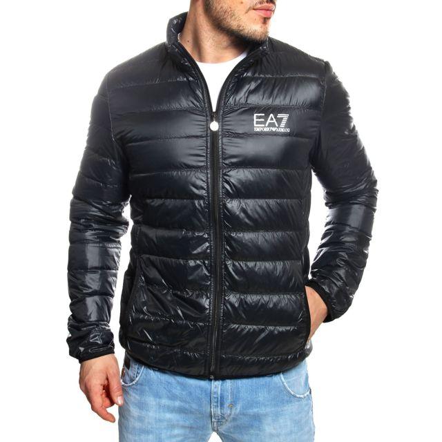 Armani Ea7 - Emporio - Doudoune légère noire 8NPB01 Pn29Z - pas cher Achat    Vente Veste homme - RueDuCommerce 5f6478082bd