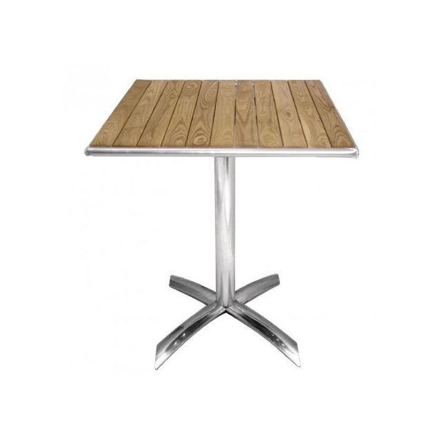 Materiel Chr Pro Table bistro carrée plateau basculant frêne Bolero 600 mm - Bois clair