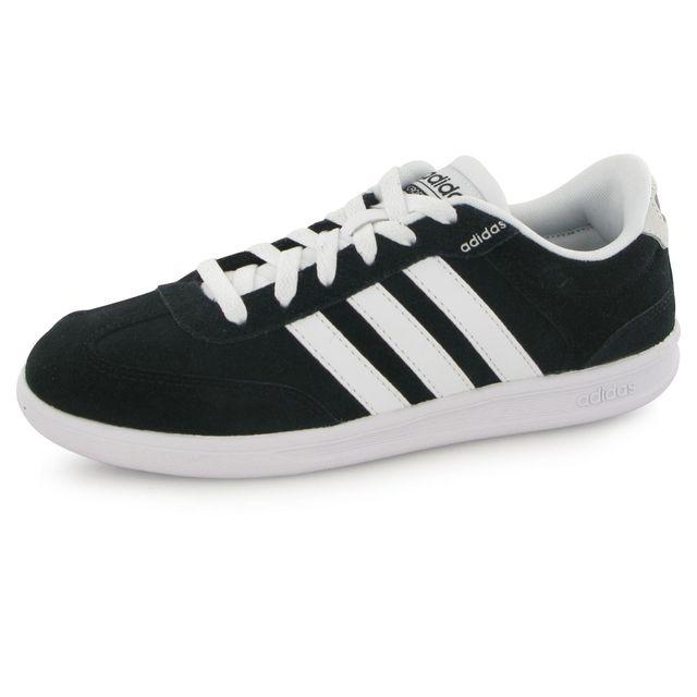Adidas Neo Cross Court noir, baskets mode homme Noir Noir