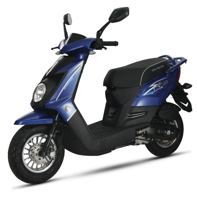 eurocka scooter q one 50cc 4t bleu noir achat vente scooters 50 pas cher rueducommerce. Black Bedroom Furniture Sets. Home Design Ideas