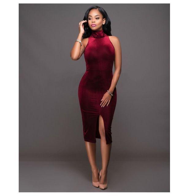 30633cc3841 Fashion Mode 45 - Robe mi-longue rouge bordeau Couleur - bordeaux ...