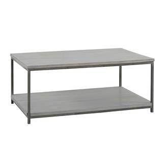Jardin d\'Ulysse - Table basse 2 plateaux Manguier gris et métal ...