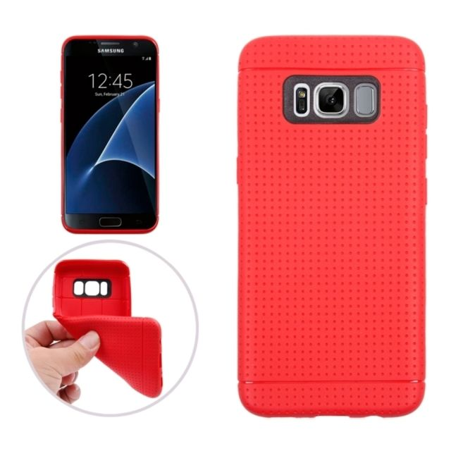 Wewoo - Coque rouge pour Samsung Galaxy S8 +   G9550 nid d abeille Texture ed0589b1913d