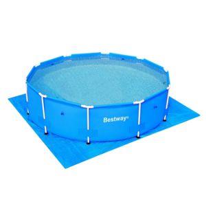 Best Way - Tapis de sol protection piscine Bestway Tapis de sol 3.35 3.35m Bleu 57132
