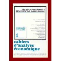 Cujas - cahiers d'analyse économique n.1 ; séminaire aftalion : analyse des mouvements conjoncturels d'après-guerre