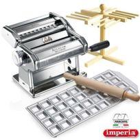 MARCATO - machine à pâtes manuel + séchoir + ravioli - pack machine a pates