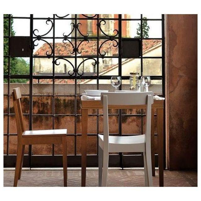 Inside 75 Petite table repas La Locanda 70x70 stratifié noyer