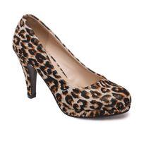 Lamodeuse - Escarpins léopard à paillettes et bout rond
