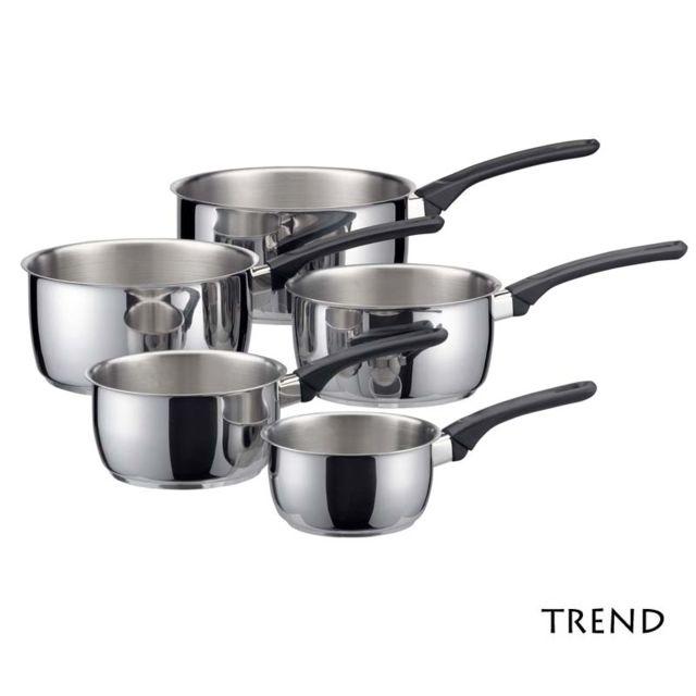 TREND - Serie de 5 casseroles inox tous feux induction