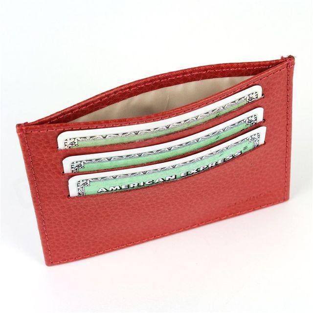 Volumica - Porte Carte d identité et Carte bancaire en cuir Rouge Beaubourg  - pas cher Achat   Vente Porte-cartes - RueDuCommerce f690386d8a2