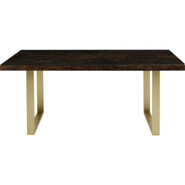 Karedesign Table Conley pieds laiton 180x90cm Kare Design