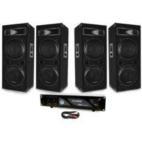 Kool Sound - Pack Sono Lsc-212 4 x 600W + Ampli 2 x 1000W