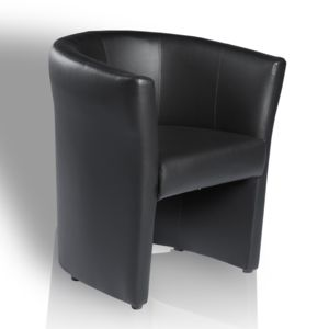 topdeco fauteuil omer de type cabriolet noir pas cher. Black Bedroom Furniture Sets. Home Design Ideas