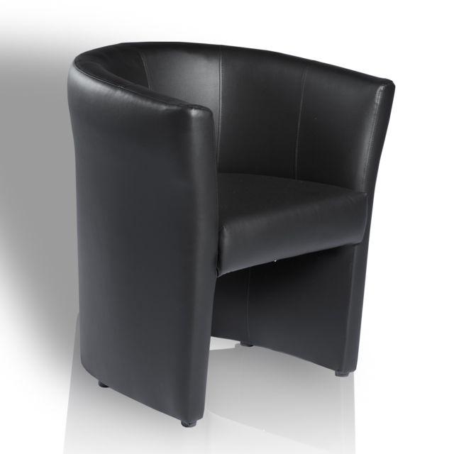 topdeco fauteuil omer de type cabriolet noir pas cher. Black Bedroom Furniture Sets. Home Design Ideas